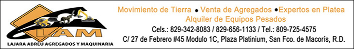 Lajara Abreu Agregados & Maquinaria - 809-725-4575