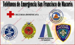 Teléfonos de Emergencia San Francisco de Macorís